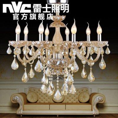 雷士照明 蜡烛灯水晶灯led客厅灯美式浪漫轻奢优雅皇宫酒店别墅欧式
