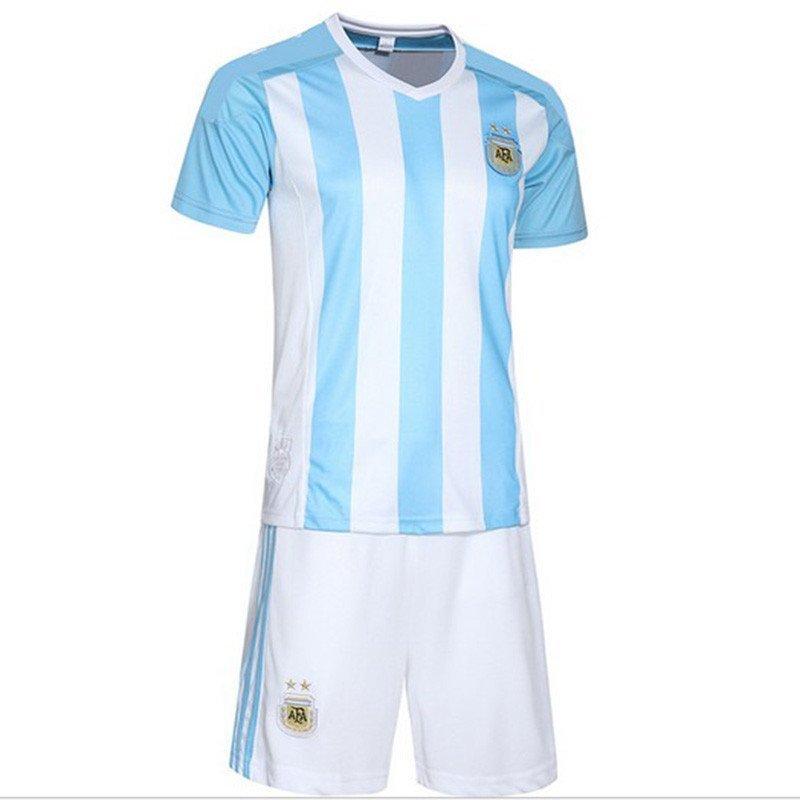 阿根廷客场足球服套装 运动服 10号梅西足球训练服队服 成人xxxl 蓝色图片