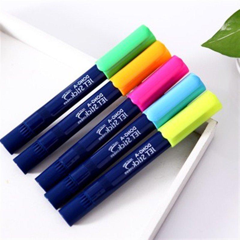 韩国可爱果冻涂鸦笔 彩色荧光笔 记号笔 蓝色高清实拍图