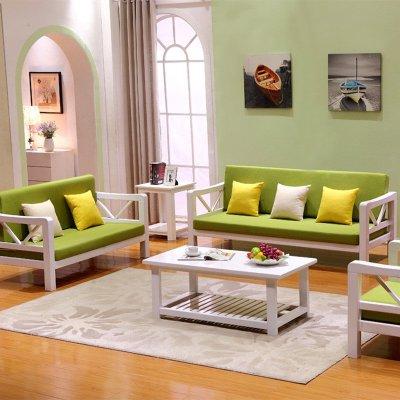 实木沙发 茶几组合五件套