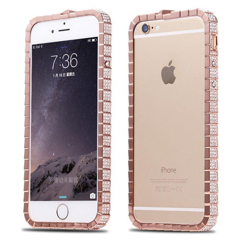 纯手工手机壳套金属蛇扣边框水晶钻保护套外壳 适用于苹果iphone5/5s