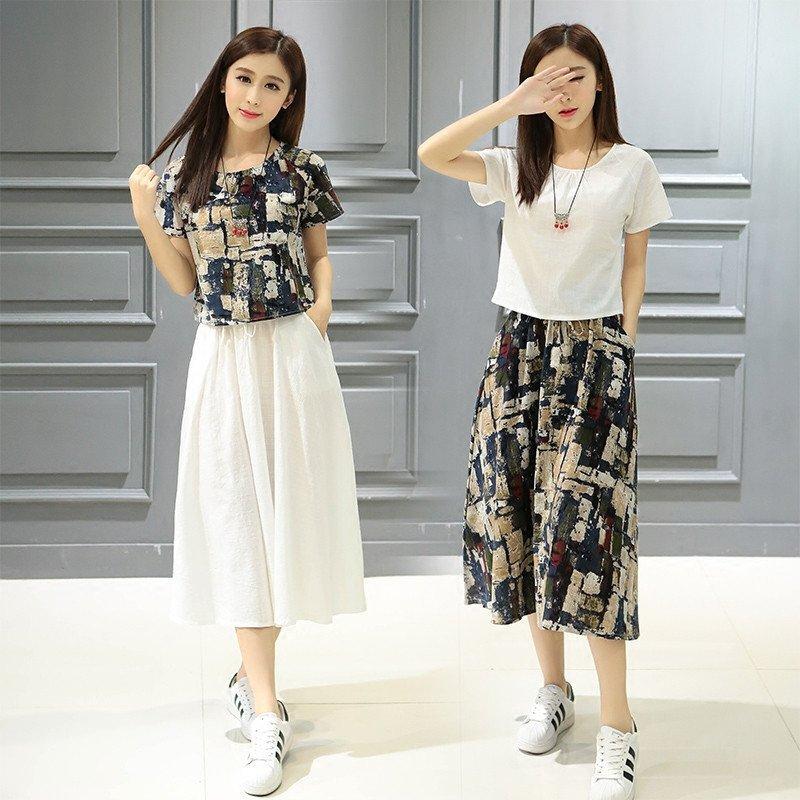 两件套夏天连衣裙
