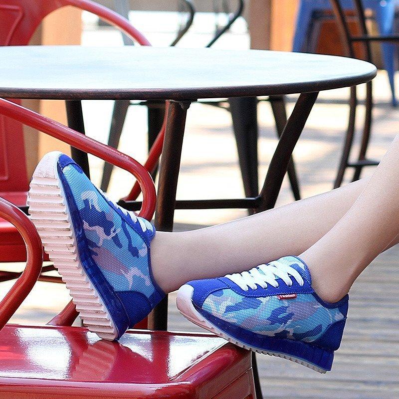 运动休闲鞋女韩版潮学生跑步鞋透气厚底单鞋女生板鞋青少年运动 紫色