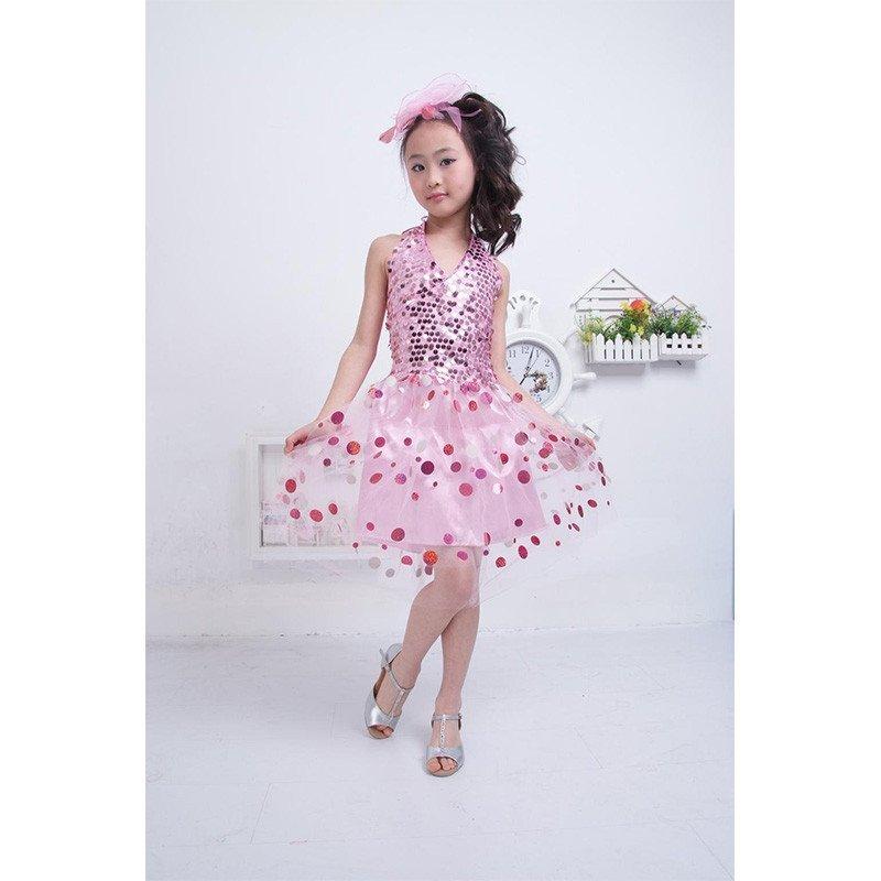 六一儿童演出服装女童亮片舞蹈蓬蓬纱裙主持人幼儿园舞台表演服饰 tz