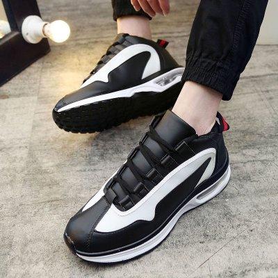 卡慕洛时尚2016欧美时尚潮流篮球鞋个性战靴韩版运动鞋男士黑白撞色