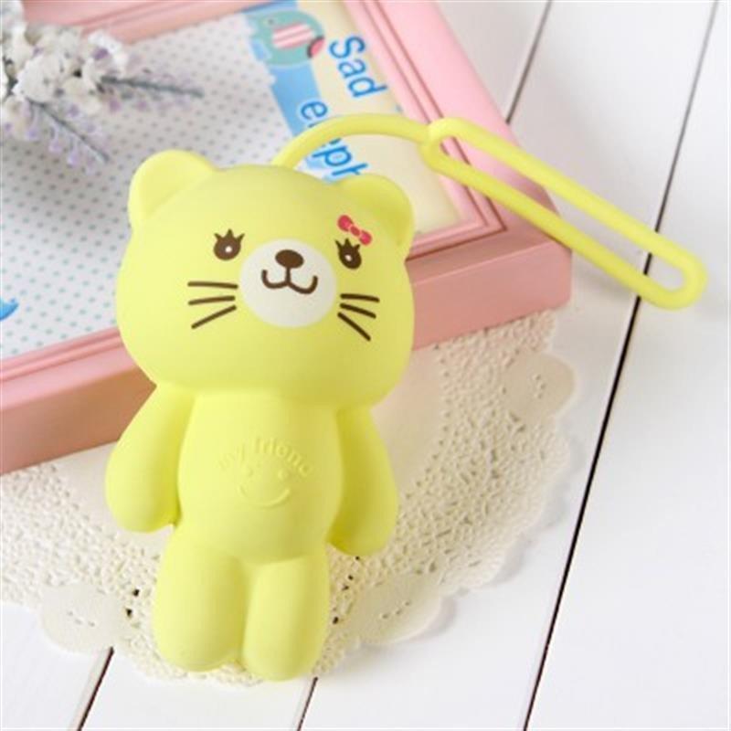 韩国创意多功能卡通动物可爱硅胶钥匙扣钥匙包钥匙套 黄猫高清实拍图