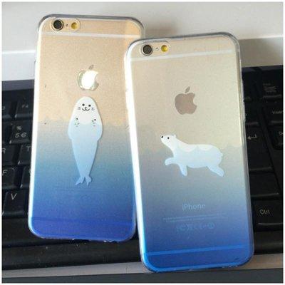 海洋动物海豹北极熊超薄tpu软壳iphone6s手机壳苹果6