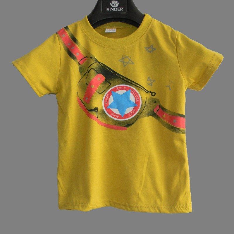 男童夏季短袖t恤宝宝儿童圆领体恤衫男孩夏装卡通衣服童装上衣 90cm