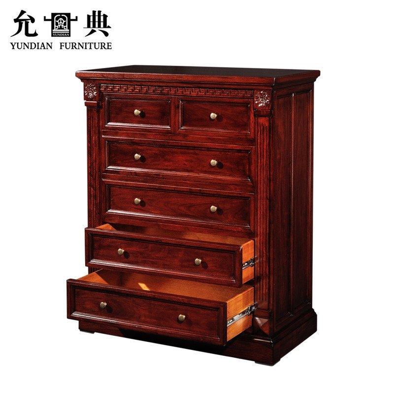 允典红木家具 花梨木01型欧式新古典五斗橱 橱柜 五斗柜 柜子 花梨木