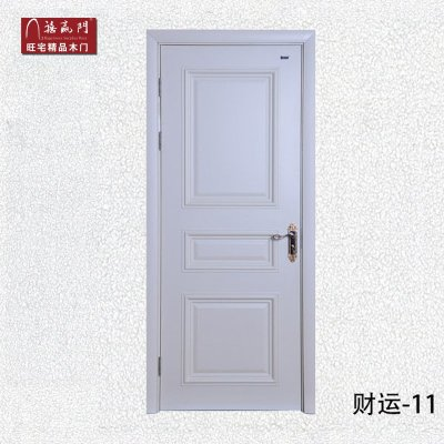 禧赢门经典欧式象牙白室内门烤漆实木门品牌木门财运