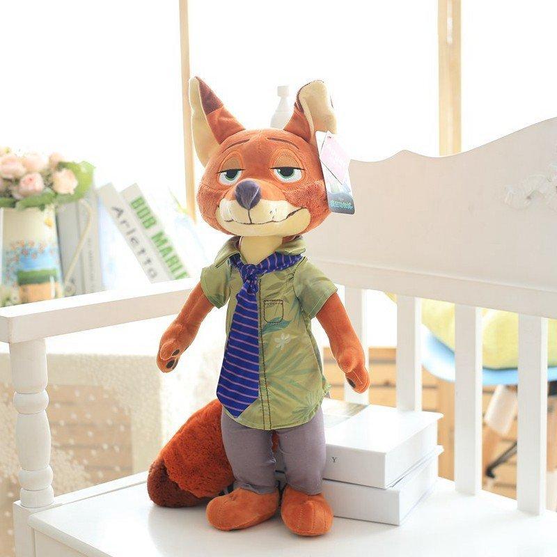 毛绒玩具大号布娃娃玩偶 生日礼物 女生 代写贺卡 22寸狐狸尼克送香包