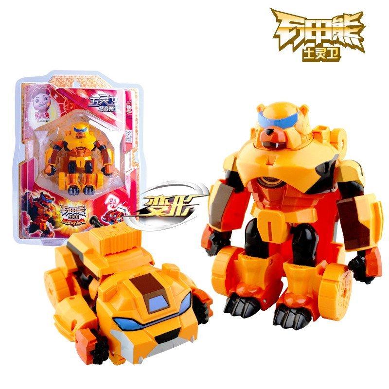 猪猪侠ys8919d五灵卫炫变勇士铁拳虎火焰鹤儿童变形机器人玩具男孩