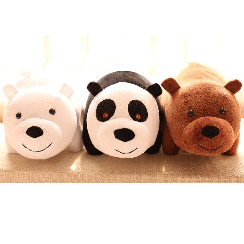 悦达 卡通咱们三只裸熊毛绒玩具北极熊猫公仔泰迪熊儿童玩具生日礼物