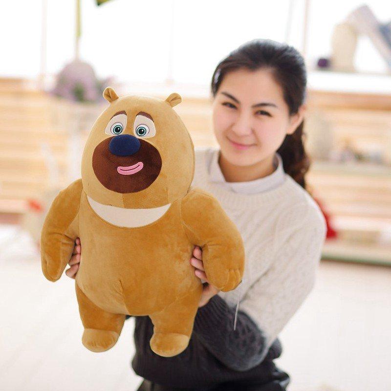 毛绒玩具大号布娃娃玩偶 生日礼物 女生 代写贺卡 熊大熊二38cm送香包
