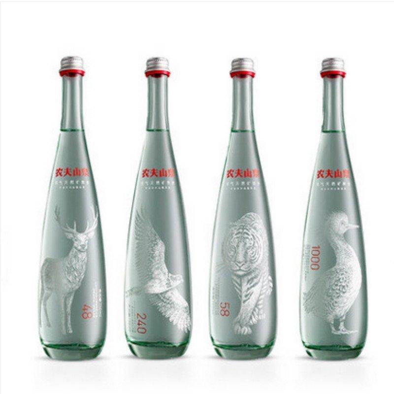 农夫山泉充气/天然矿泉水(玻璃瓶)750ml*8瓶整箱8种图案全套礼盒