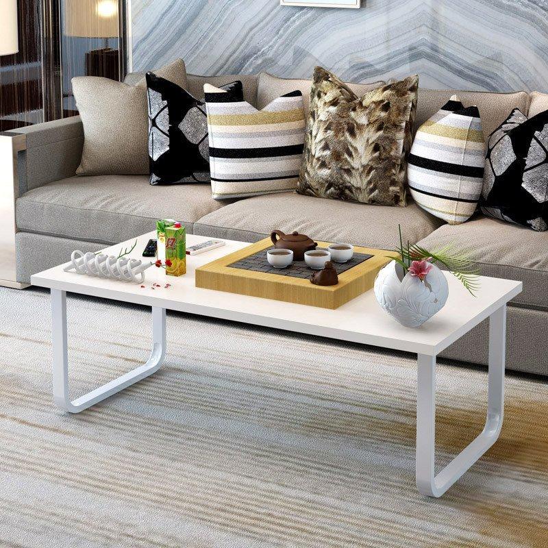 茶几小户型矮桌小桌子创意咖啡桌组装客厅 单层120cm黑柳木高清实拍图