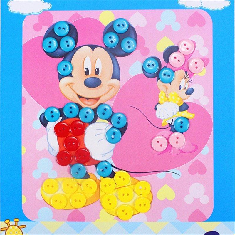 手工制作幼儿园粘贴画装饰画玩具 王子款 米奇-幼儿园手工制作纽扣