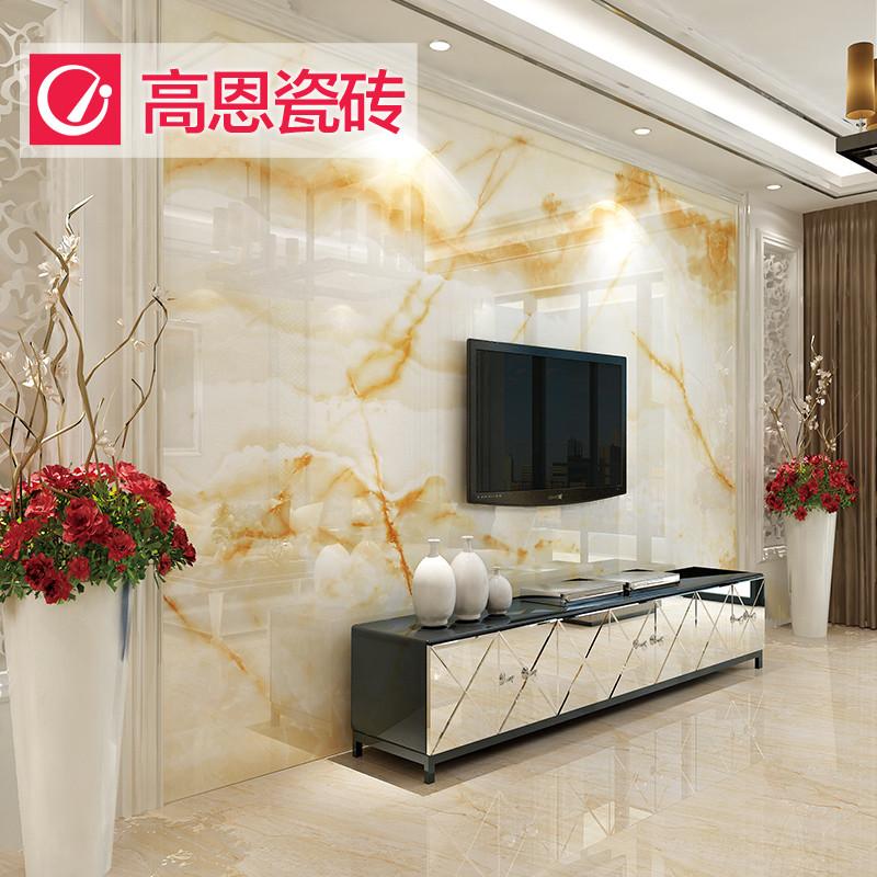 墙地面材料 瓷砖 高恩 高恩瓷砖大理石背景墙 欧式简约客厅电视墙砖3d