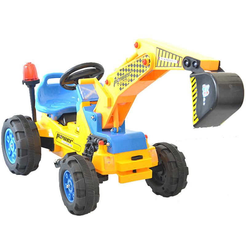 儿童电动车挖掘机带音乐大号四轮可坐手控挖土机 小孩子玩具儿童电车