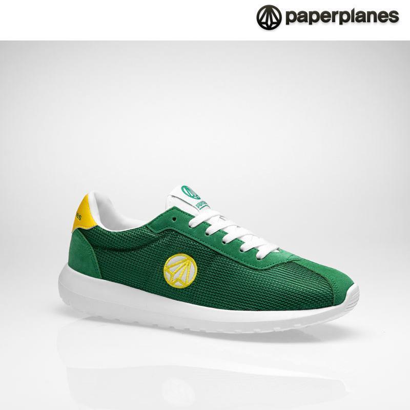 [纸飞机]100%韩国正品pp1396男女情侣气垫运动鞋 _green yellow 绿