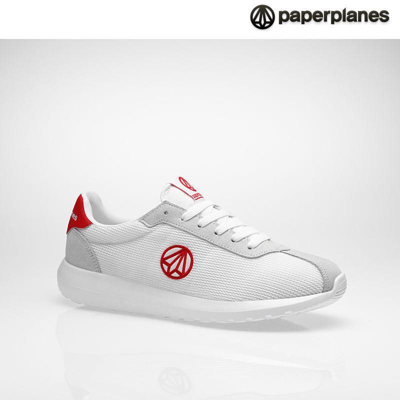 [纸飞机]100%韩国正品pp1396男女情侣气垫运动鞋 _white red 白红 250