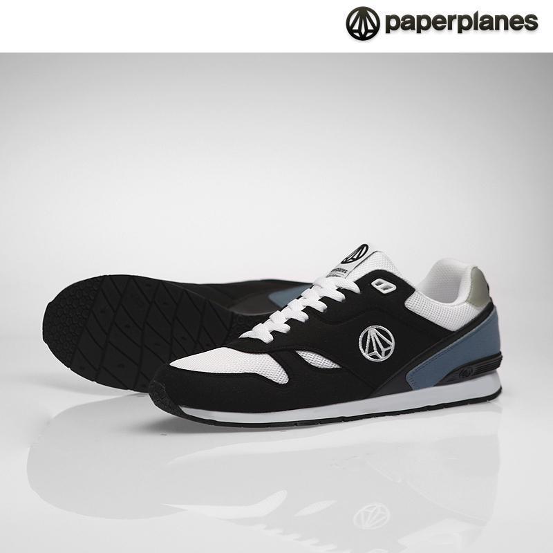 [纸飞机]100%韩国正品pp1367男女情侣气垫运动鞋 _black 黑色 290