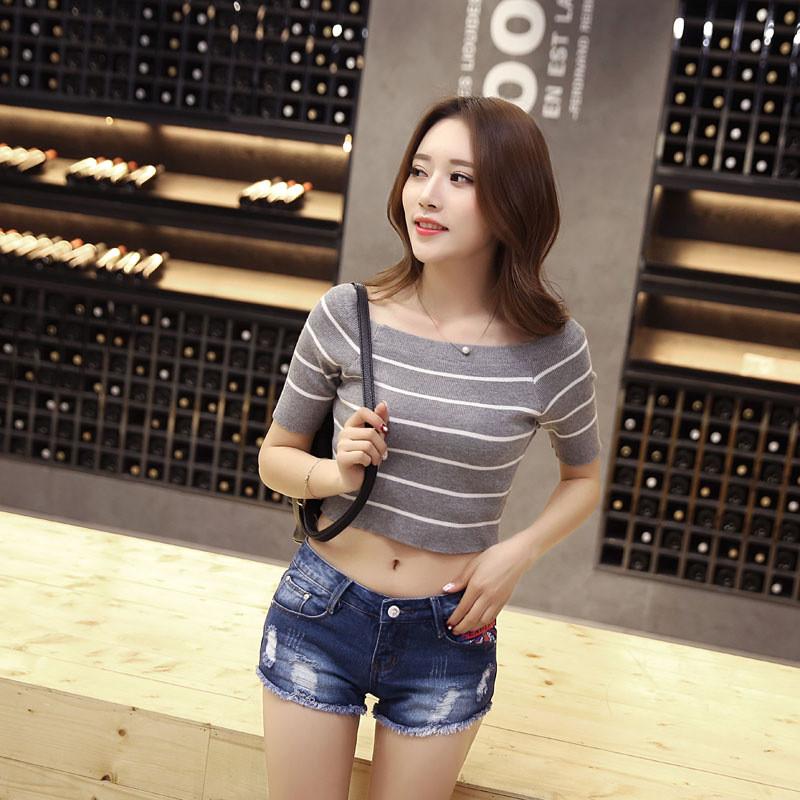 韩雪青青2016新款女装牛仔短裤韩版潮短牛仔裤