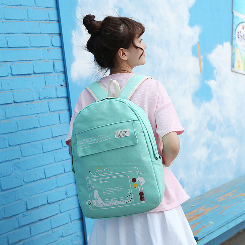 gete书包可爱女孩韩版小初中学生卡通双肩包学院风小清新背包旅游