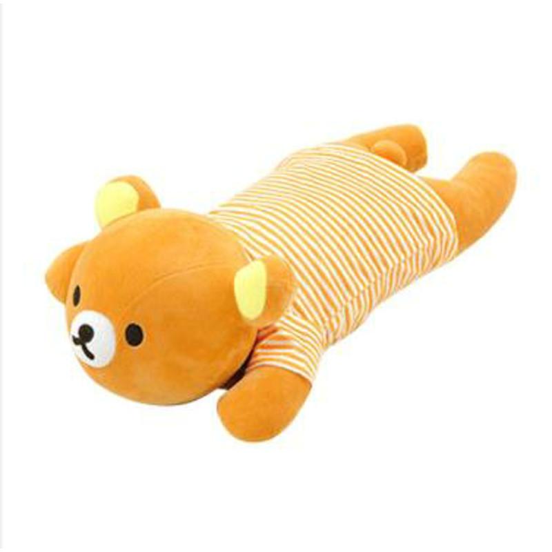 枕头毛绒玩具抱枕布娃娃趴趴熊猫凉席学生睡枕可爱儿童节礼物 棕熊
