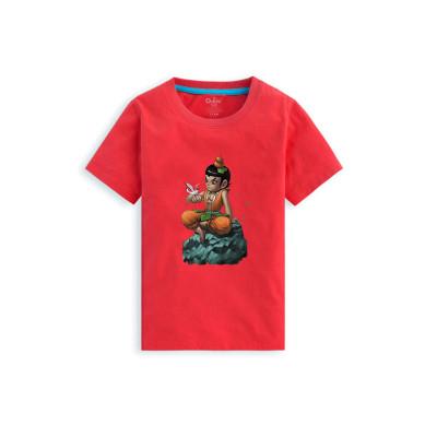暑假新款儿童短袖跑男葫芦娃t恤衣服卡通t恤男女奔跑吧兄弟同款撕名牌