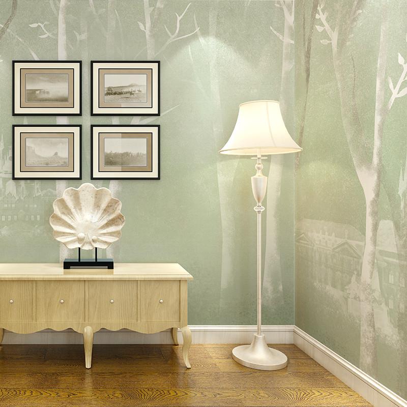 现代简约北欧素雅背景墙装饰画 客厅电视墙壁画卧室墙布沙发墙墙纸