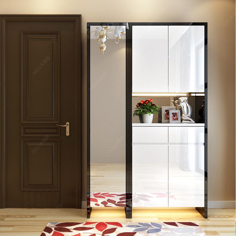 現代簡約門廳柜客廳儲物玄關柜隔斷 進門鞋柜衣帽柜組合 單個鏡柜高清