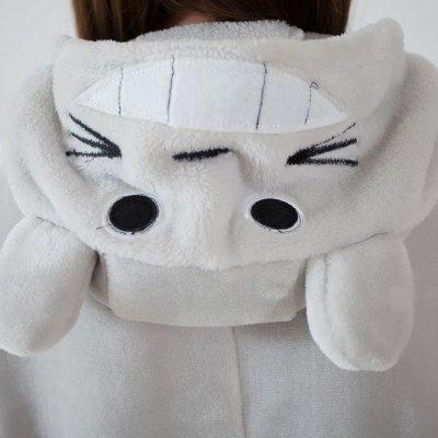 法兰绒卡通动物可爱龙猫情侣连体睡衣男女冬天家居服套装演出服装 xl