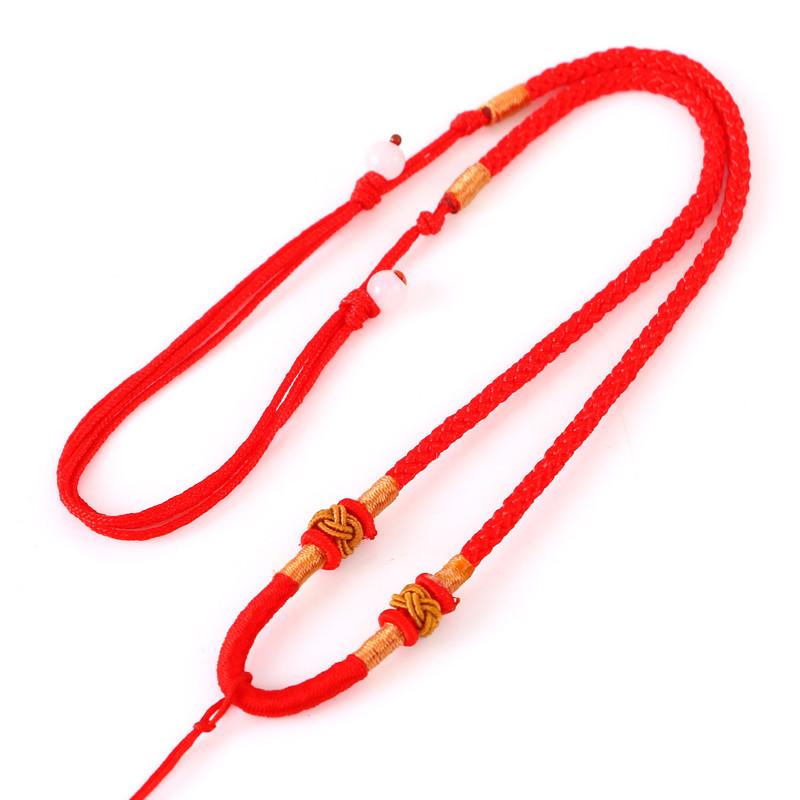 手工编织项链挂绳挂坠玉坠翡翠玉器黄金玉佩水晶吊坠挂件绳子红绳