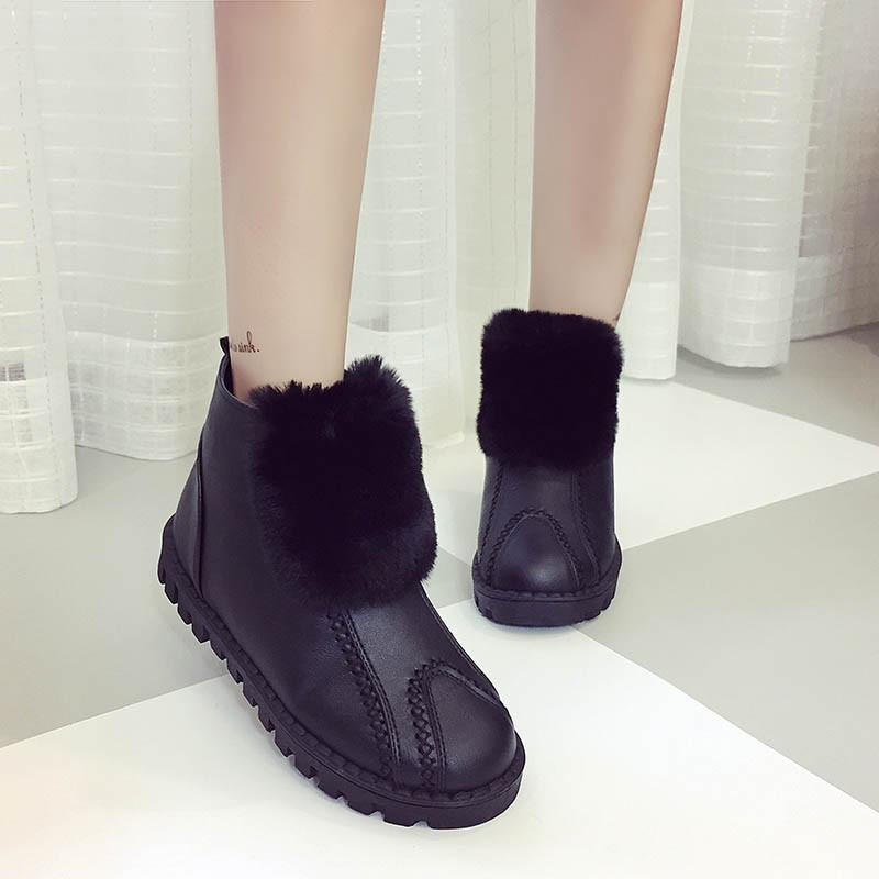 短筒靴子冬天女短靴加绒中老年女鞋棉妈妈鞋冬青少年休闲时尚旅游潮鞋