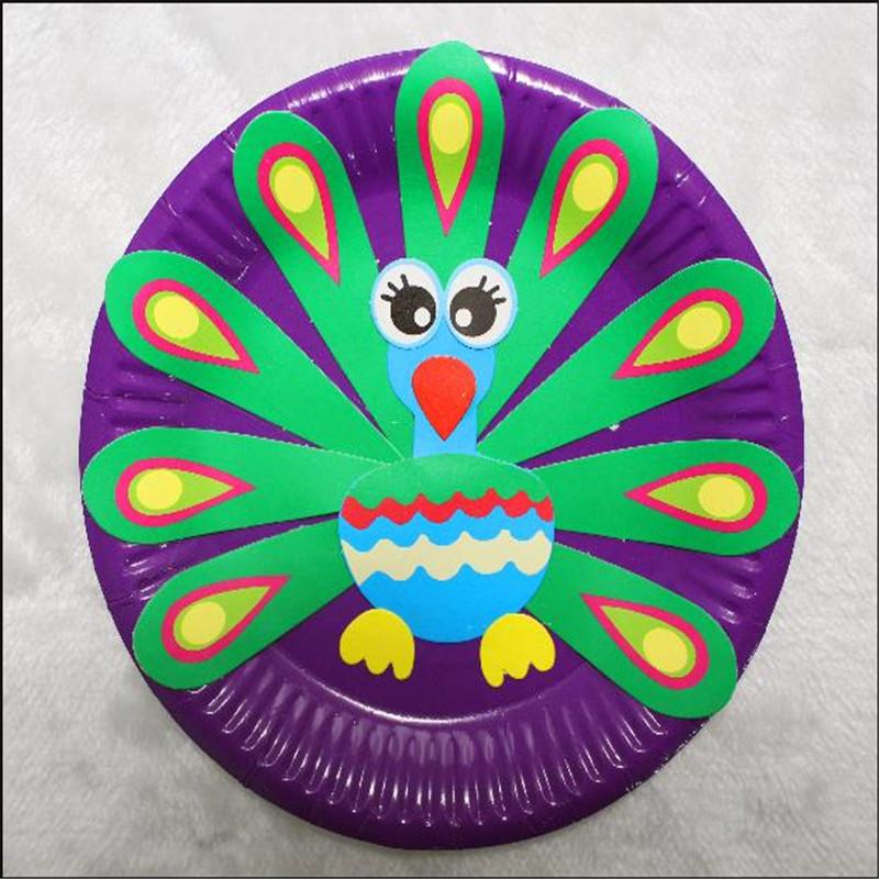 梦童工坊 儿童手工制作纸盘子画玩具 幼儿园宝宝创意粘贴美术材料包