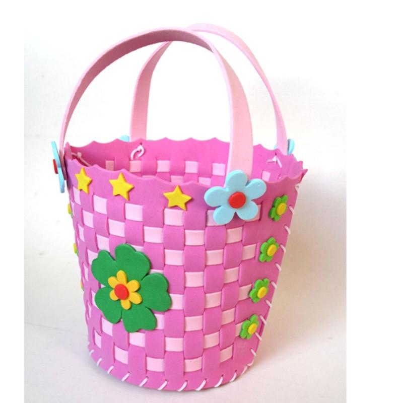 悦达 新款儿童手工制作编织篮diy新年过年礼物幼儿园材料包