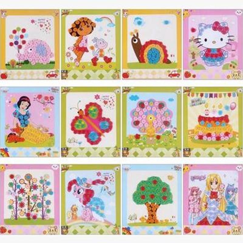 梦童工坊 diy纽扣画 儿童手工制作幼儿园粘贴画装饰画玩具 公主款