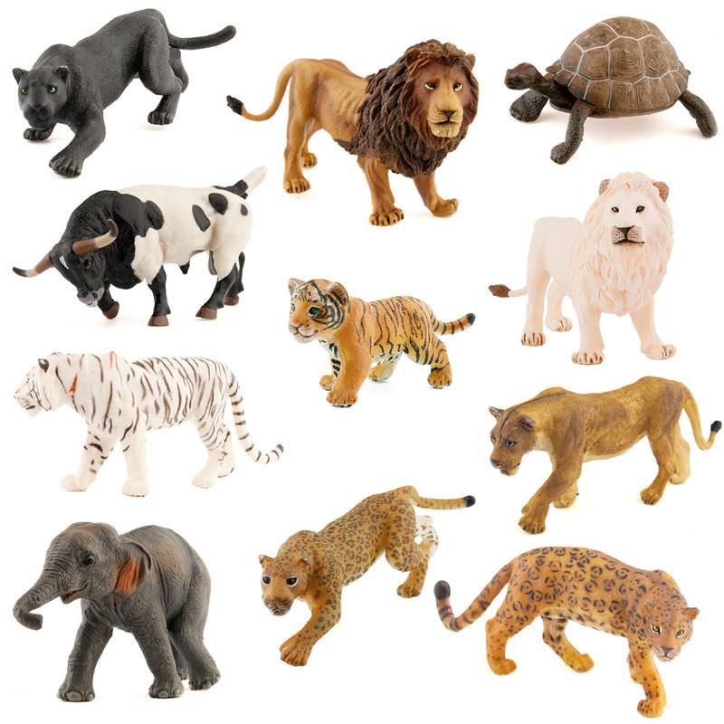 法国papo 高仿真静态野生动物虎亚洲象狮子模型玩具摆件 美洲豹高清