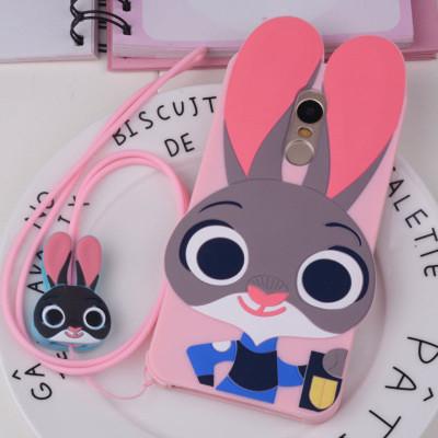 适用于红米note4/小米note4 兔子朱迪粉色 赠同款卡通挂绳
