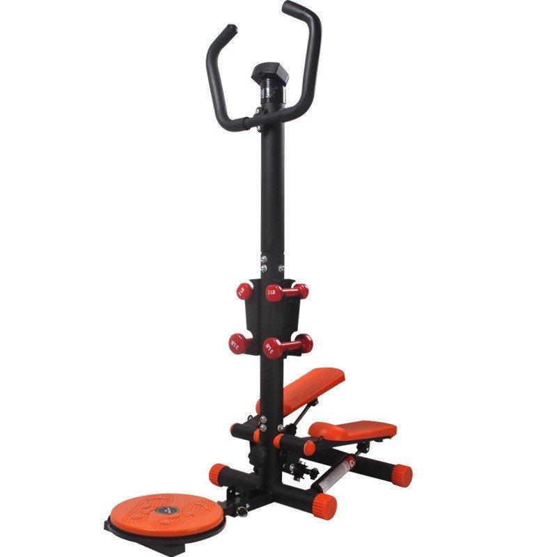 蓝帕佩尼 家用健身器材音液压左右摇摆 带扶手踏步机 橙色高清实拍图图片