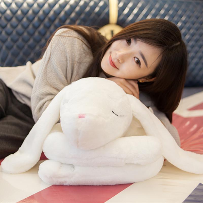 悦达 可爱睡觉安抚小兔子大人宝宝睡觉抱枕毛绒玩具陪睡兔公仔娃娃 1.