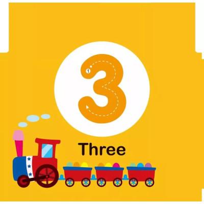 《认数》0-1-2-3岁幼儿童书启蒙早教书婴儿看图认数字学习卡