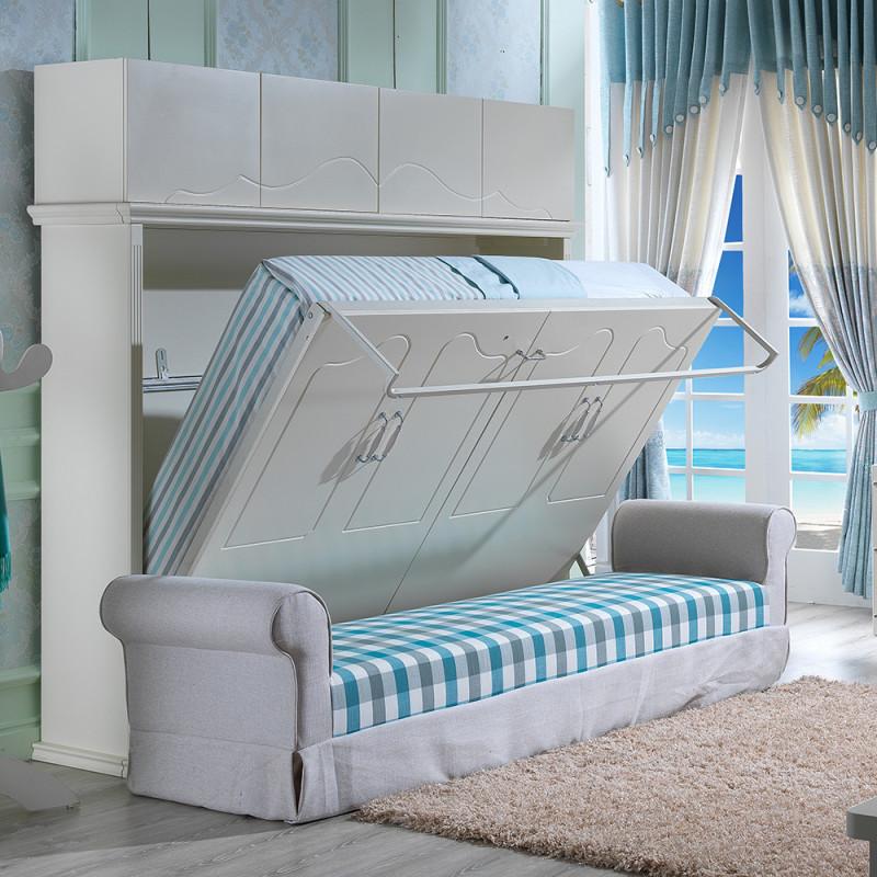 创意欧式田园沙发床 客厅侧翻隐形床壁床折叠床多功能双人床沙发 出口