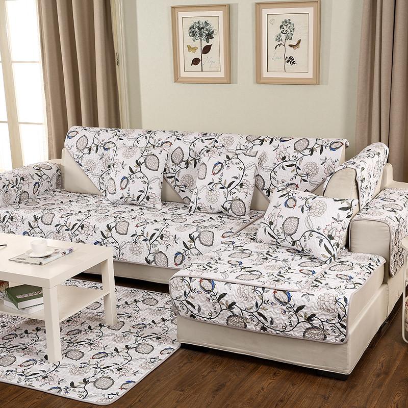 斜纹纯棉 订做定制沙发布沙发罩全盖沙发床套欧式现代老式折叠三人