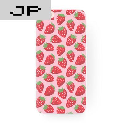 jp潮流品牌小清新可爱粉红色草莓苹果7 6s 5s iphone6splus 创意磨砂