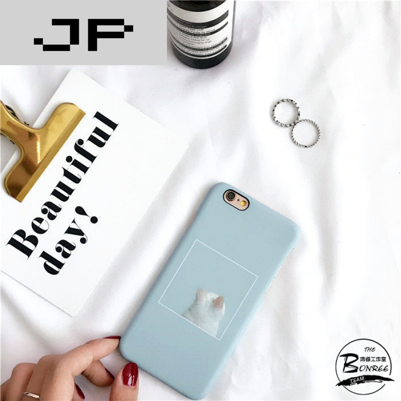 jp潮流品牌韩国呆萌卡通小动物iphone7手机壳苹果6s plus磨砂硬壳可爱