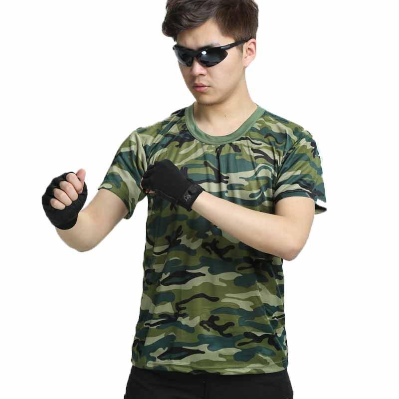 户外运动军迷彩服学生军训服迷彩短袖速干衣迷彩服短袖迷彩t恤军 迷装