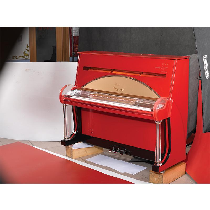 罗曼水晶立式钢琴 纯手工制作水晶材质 家用初学启蒙专业演奏钢 水晶