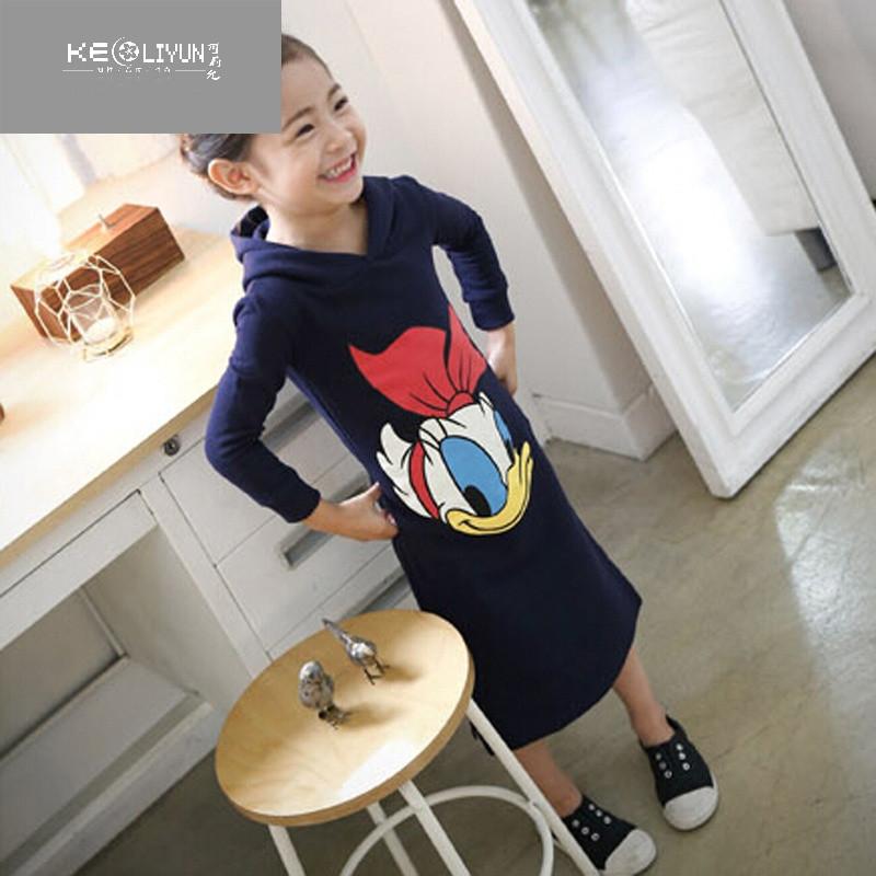 可莉允时尚品牌2017春秋韩国长袖装日程棉连女童板图片